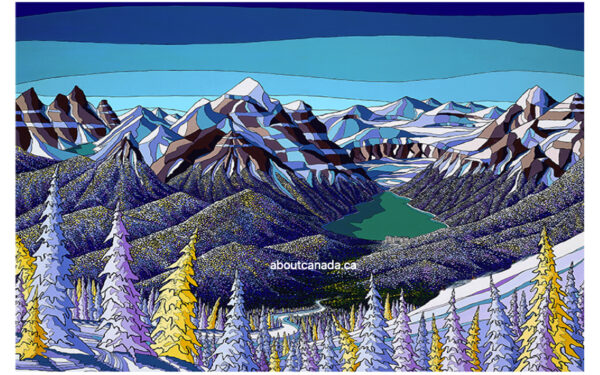 Skiers at Lake Louise